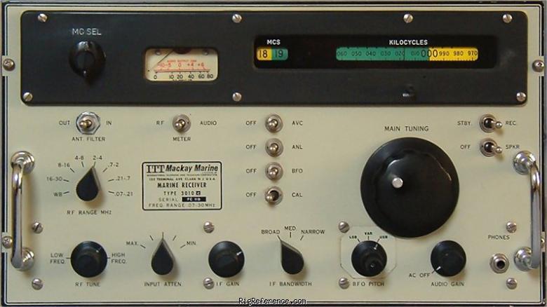 Itt Mackay Marine 3010c Specifications