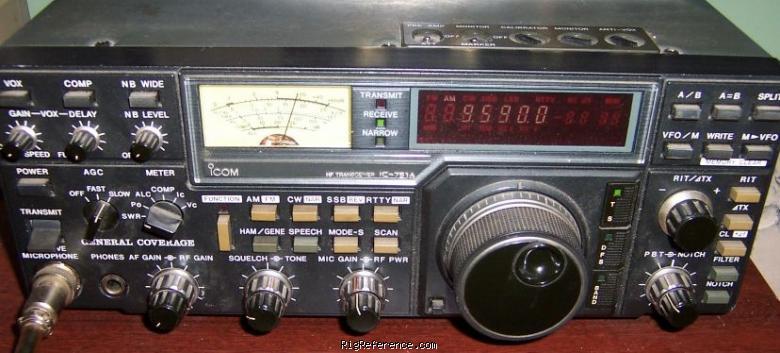 Icom ic-751 manual and service manual.