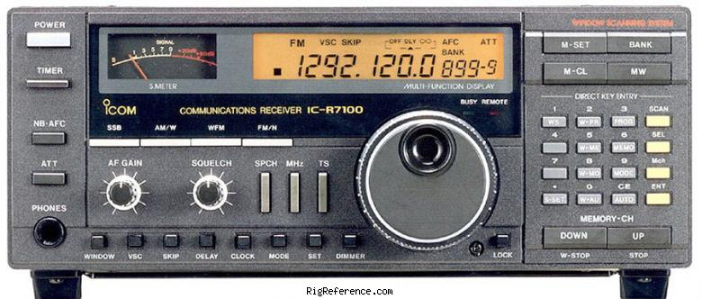 icom ic r7100 specifications rigreference com rh rigreference com Icom IC R7100 Receivers Icom IC 7100 Review
