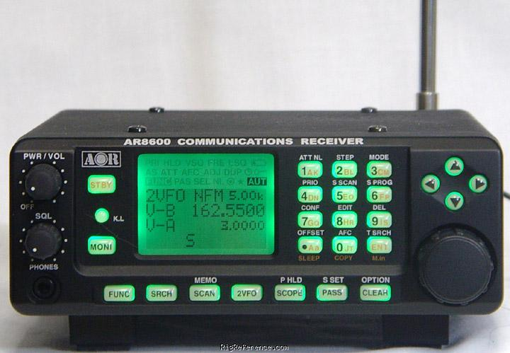 AOR AR-8600 Mk2 Specifications | RigReference com