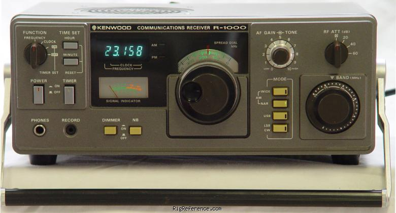 kenwood r 1000 specifications rigreference com rh rigreference com Kenwood R 2000 Communications Receiver Kenwood R- 2000