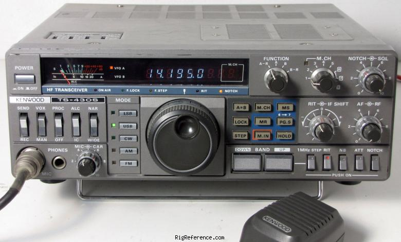 kenwood ts 430s specifications rigreference com rh rigreference com Kenwood Ts 430 User Manual kenwood ts 450s service manual