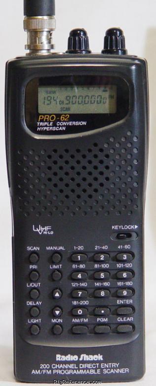 radioshack realistic pro 62 specifications rigreference com rh rigreference com radio shack weather alert 200 channel scanner manual pro-2018 radio shack weather alert 200 channel scanner manual