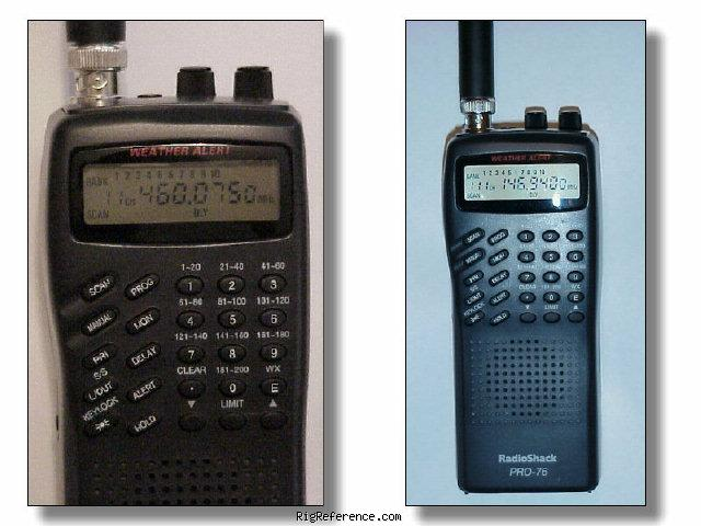 radioshack realistic pro 76 specifications rigreference com rh rigreference com radio shack pro 75 scanner manual Radio Shack Pro 651 Scanner Manual