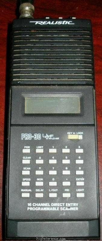radioshack realistic pro 30 specifications rigreference com rh rigreference com Radio Shack Handheld Scanner Manual Scanner Pro 5.0 Manual