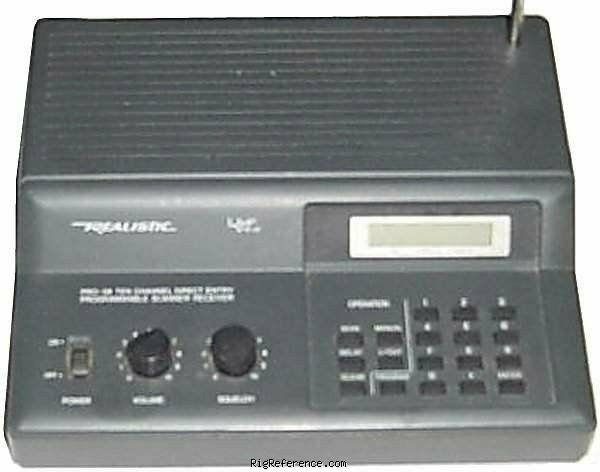 radioshack realistic pro 58 specifications rigreference com rh rigreference com Pro 13 5 Scanner Manual realistic pro-58 programmable scanner manual