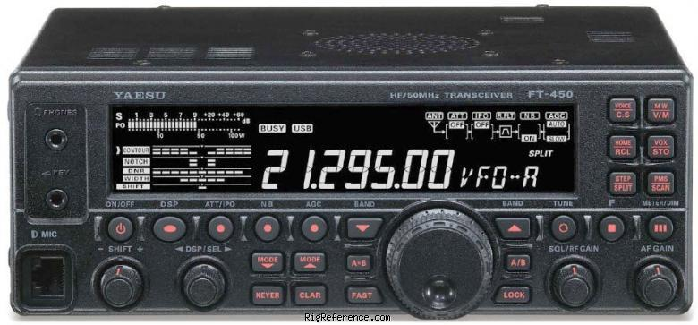 Yaesu FT-450AT Specifications   RigReference.com on