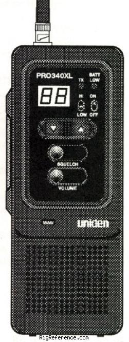 uniden bearcat pro340xl specifications rigreference com rh rigreference com